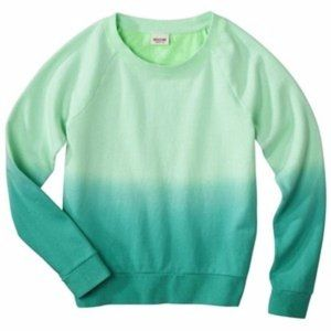 Mossimo Green & Teal Ombré Pullover Sweatshirt